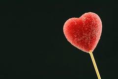 красный цвет lollipop сердца Стоковое Изображение RF