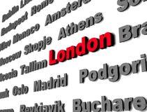 красный цвет london Стоковое Фото