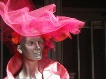 красный цвет manequine шлема стоковое фото