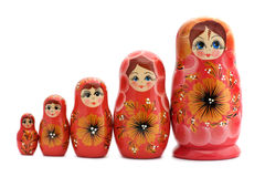 красный цвет matrioshka Стоковое Фото