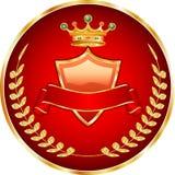 красный цвет medallion1 Стоковое Фото