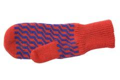 красный цвет mitten Стоковые Фотографии RF