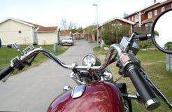 красный цвет motocycle Стоковые Изображения