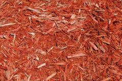 красный цвет mulch Стоковые Фотографии RF
