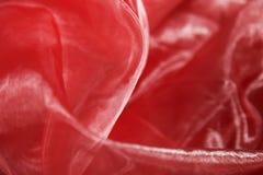 красный цвет organza предпосылки Стоковая Фотография