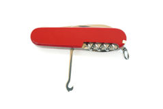 красный цвет penknife стоковое изображение rf