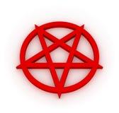красный цвет pentagram Стоковое Фото