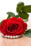 красный цвет perls поднял Стоковая Фотография
