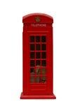 красный цвет phonebooth Стоковые Фото