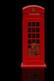 красный цвет phonebooth Стоковые Изображения