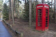 красный цвет phonebox Стоковое Изображение