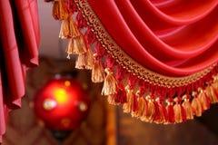 красный цвет portiere Стоковое фото RF