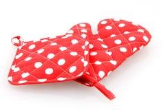 красный цвет potholder печи перчатки Стоковые Изображения RF