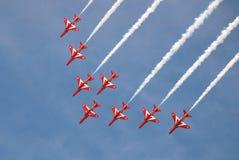 красный цвет raf стрелок Стоковая Фотография RF