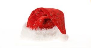 красный цвет santa шлема Стоковая Фотография RF