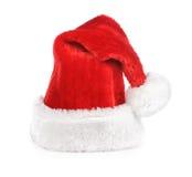 красный цвет santa шлема Стоковые Изображения