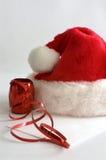 красный цвет santa шлема Стоковая Фотография