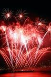 красный цвет seattle феиэрверков Стоковое Фото