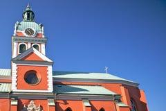 красный цвет stockholm jacobs церков Стоковые Изображения