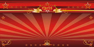 Красный цирк приглашения Стоковое фото RF