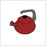 Красный чайник Стоковые Изображения