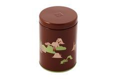 Красный чай металла может (изолированный) Стоковые Фотографии RF