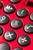 Красный чалькулятор Стоковые Фотографии RF