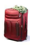 красный чемодан стоковые фотографии rf
