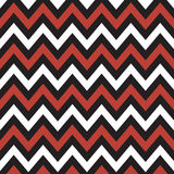 Красный, черно-белый Шеврон Стоковые Фотографии RF
