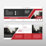 Красный черный дизайн шаблона рогульки брошюры листовки годового отчета вектора треугольника, дизайн плана обложки книги Стоковая Фотография