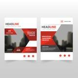 Красный черный дизайн шаблона рогульки брошюры листовки годового отчета вектора, дизайн плана обложки книги, абстрактное представ Стоковая Фотография RF