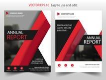 Красный черный дизайн шаблона рогульки листовки годового отчета брошюры вектора ярлыка, дизайн плана обложки книги, иллюстрация штока