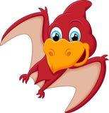 Красный шарж Pterodactyl Стоковая Фотография RF