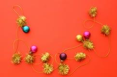 Красный шарик предпосылки Стоковая Фотография