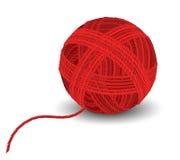 Красный шарик пряжи Стоковое Изображение RF
