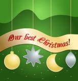 Красный шарик рождества 0 зим версии иллюстрации 8 имеющихся eps Стоковое Фото