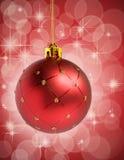 Красный шарик рождества Стоковая Фотография