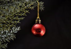 Красный шарик рождества Стоковое Изображение RF