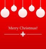 Красный шарик рождества Стоковые Изображения RF