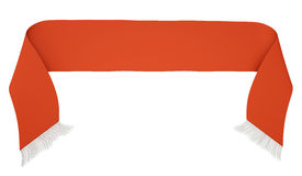 Красный шарф футбола иллюстрация вектора