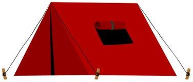 Красный шатер с сложенным окном бесплатная иллюстрация