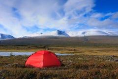 Красный шатер Стоковое Фото