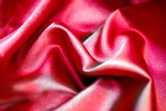 красный шелк Стоковое фото RF