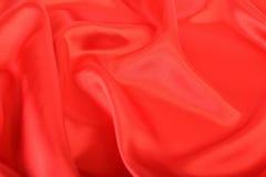 Красный шелк ткани Стоковое Изображение RF