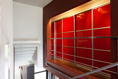 Красный шкаф стоковое фото rf