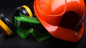 Красный шлем безопасности Стоковые Фотографии RF