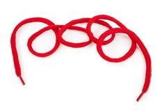 Красный шнурок Стоковая Фотография