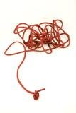красный шнур стоковое фото rf