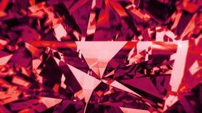 Красный шпинелевый отснятый видеоматериал рассеивания Предпосылка причудливого диаманта цвета оживленная акции видеоматериалы