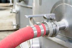 Красный шланг стоковое фото rf